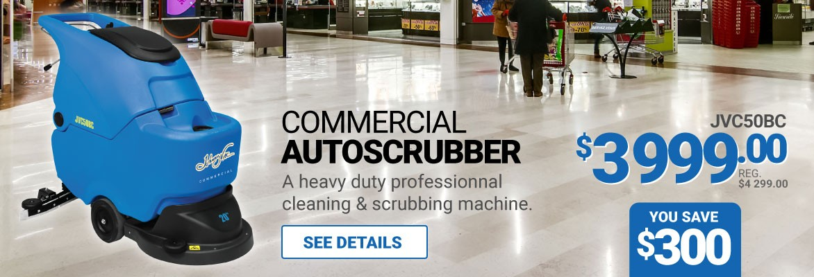 """SAVE 300$ - 20"""" AUTOSCRUBBER - JOHNNY VAC GEL BATTERIES & CHARGER INCLUDED"""