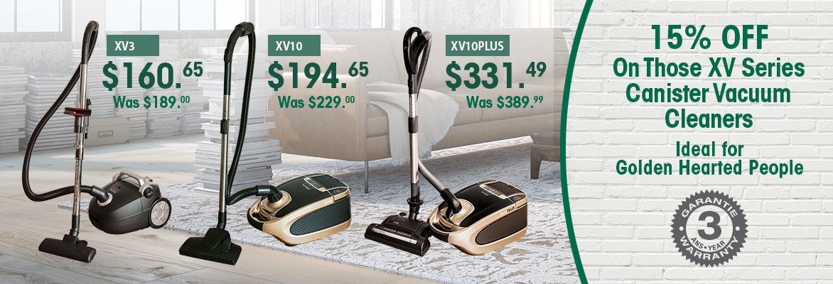20% Off on XV Series Canister Vacuums