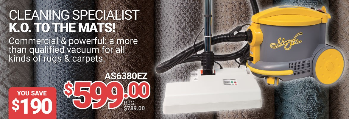 Save 190$ on this commercial & powerful vacuum - K.O. to the mats!