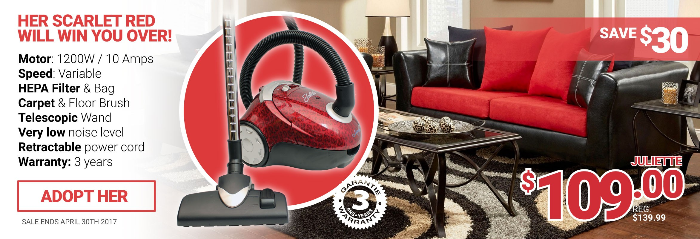 Johnny Vac - JULIETTE - Save $30 on the Juliette.