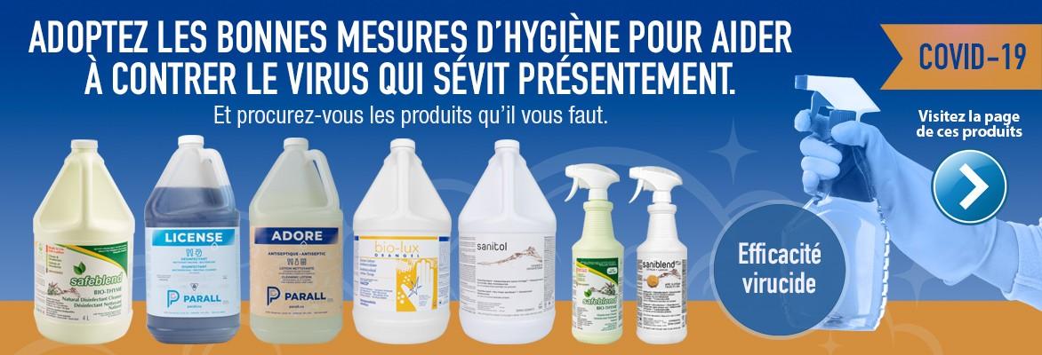 Produits pour la prévention de la COVID-19