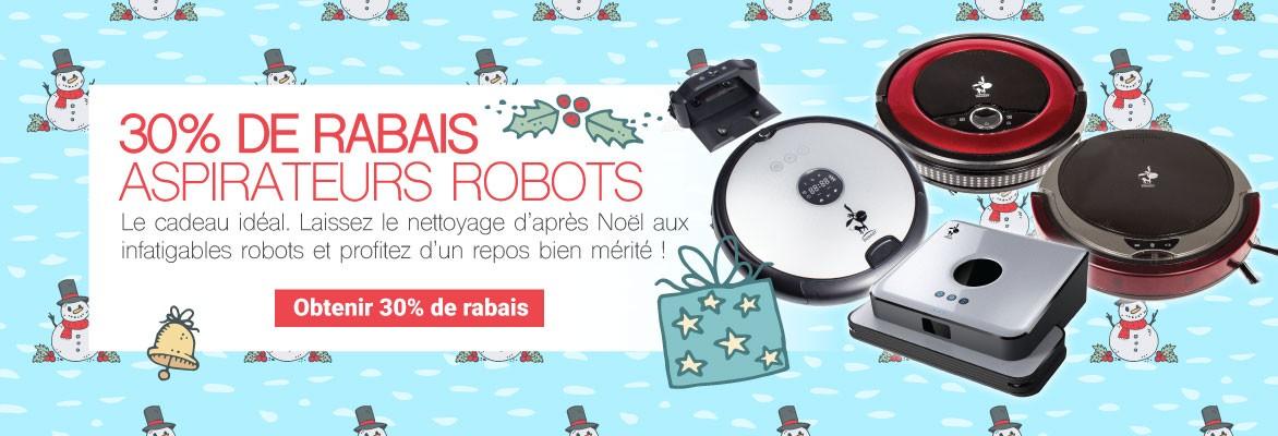 30% DE RABAIS sur tour les aspirateurs robots - À Noël, offrez le cadeau parfait pour la fête d'après Noël.