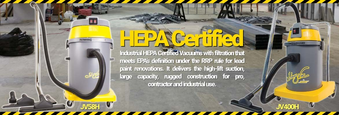 HEPA Certified Commercial Vacuums