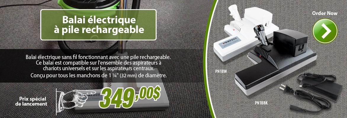 Balai électrique rechargeable